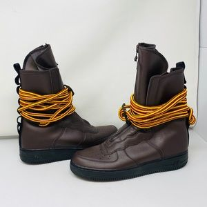 NEW**NIKE SF AIR FORCE 1 HIGH Brown Leather* $350